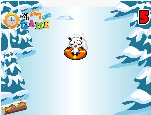 chơi game gấu trúc trượt tuyết