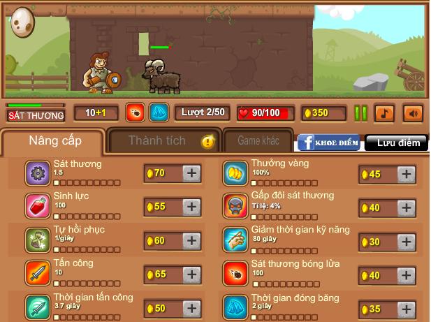 chơi game hiệp sĩ click
