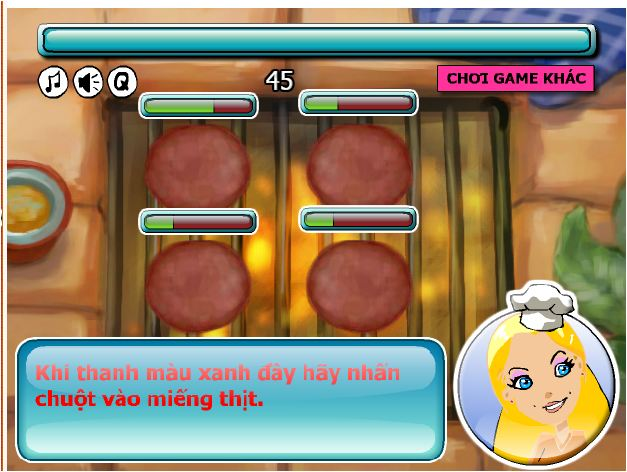 chơi game làm bánh Hambuger
