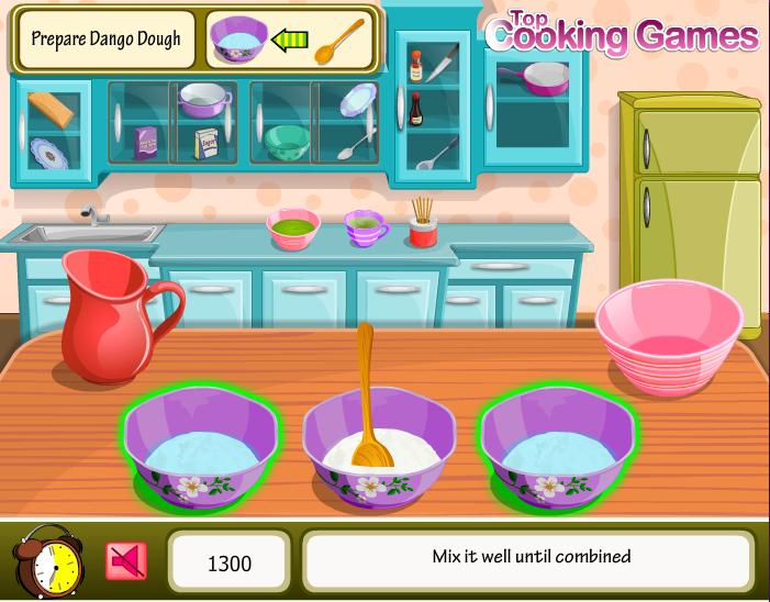 chơi game làm bánh trôi nước