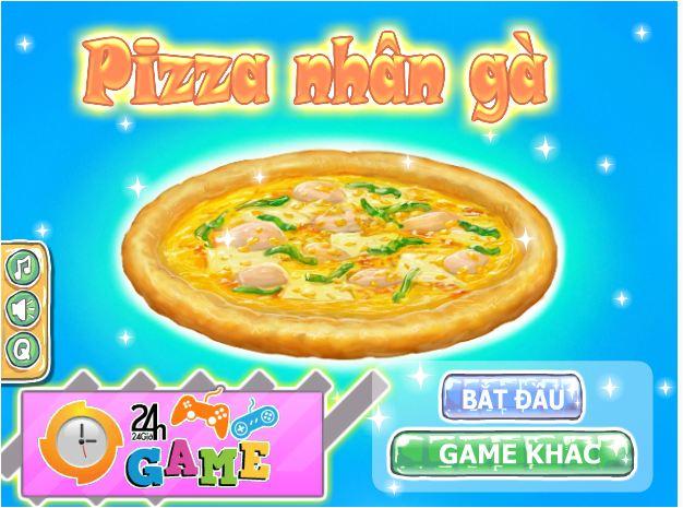 bánh pizza nhân gà