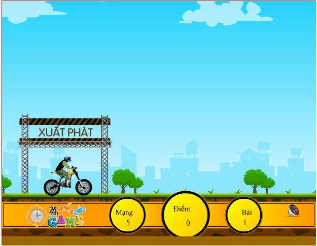 game biểu diễn mô tô bay