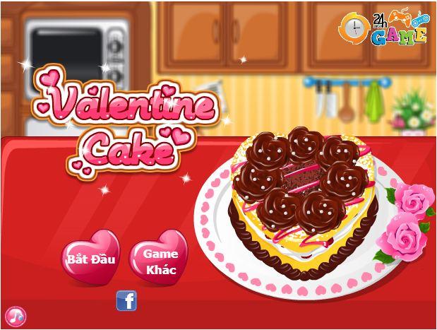 game làm bánh valentine