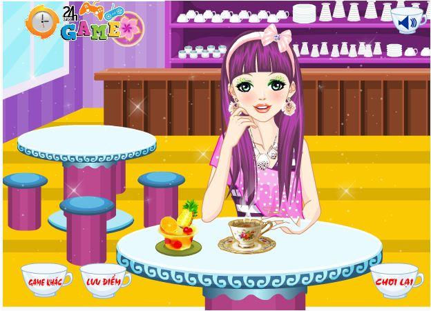 chơi game thời trang trà quán