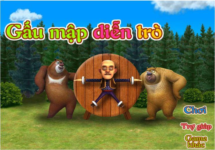 gấu mập diễn trò
