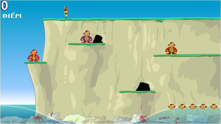 game khỉ nhảy sóng