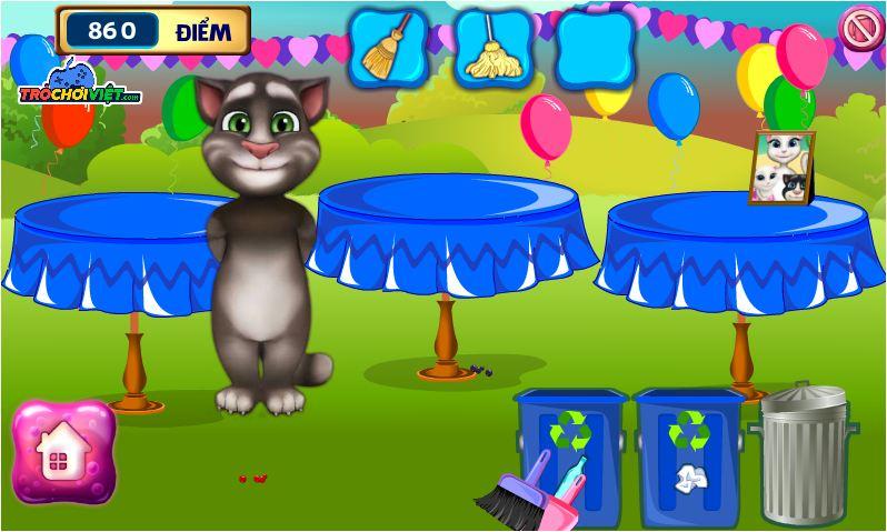 chơi game mèo Tom dọn nhà