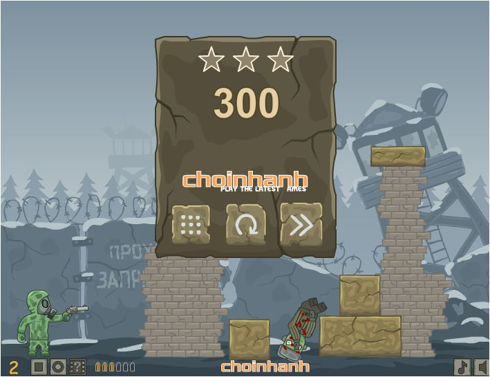 chơi game bắn súng diệt zombie 2