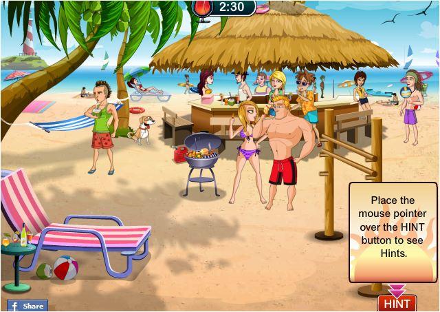game chọc phá người đẹp ở bãi biển