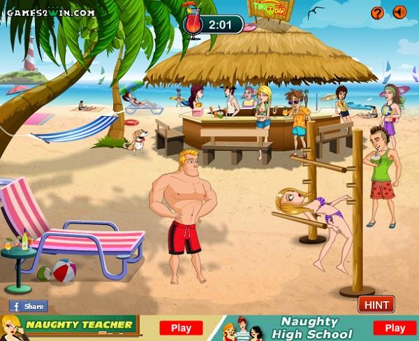 chơi game chọc phá người đẹp ở bãi biển