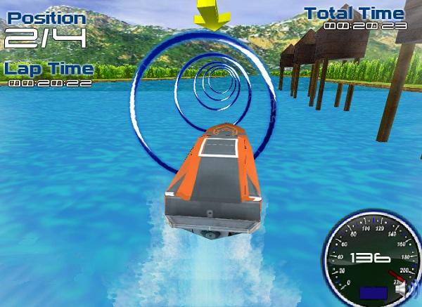 chơi game đua thuyền 3D
