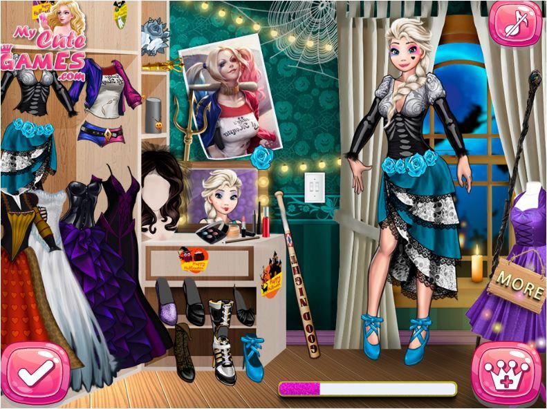 chơi game thời trang công chúa Disney Halloween