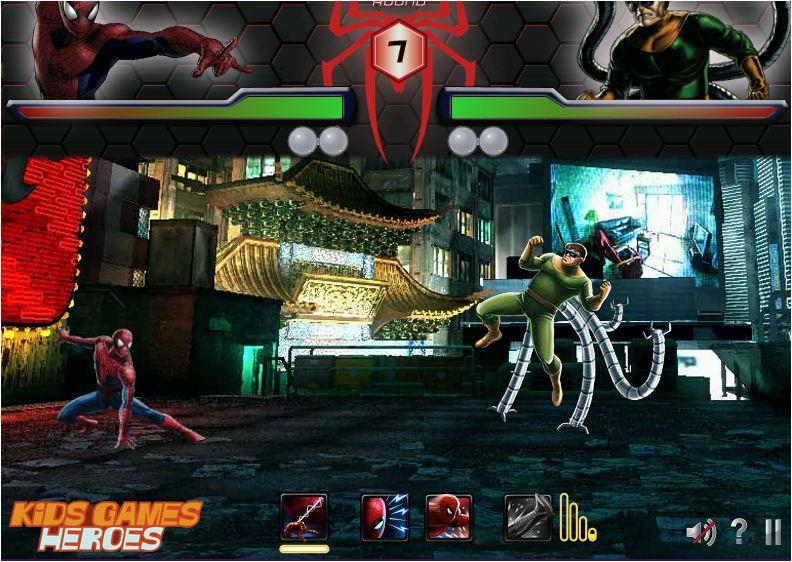 Chơi game người nhện đánh nhau