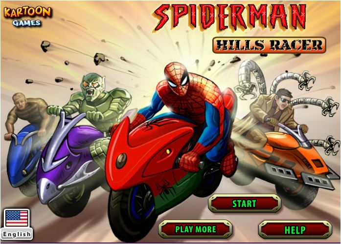 người nhện đua xe may