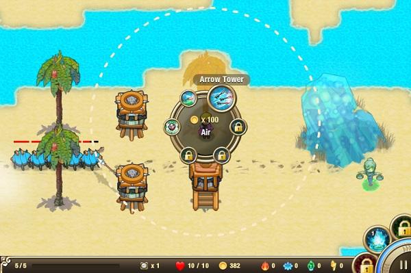 chơi game bảo vệ đảo 3