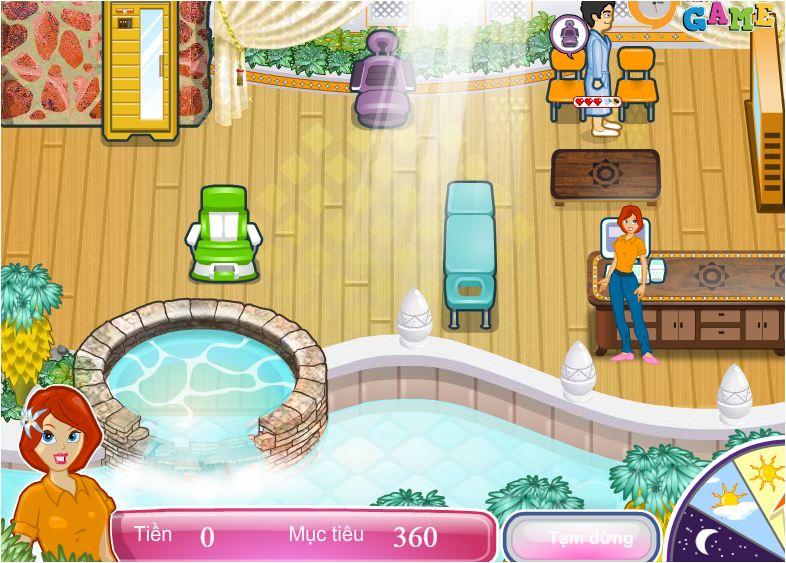 chơi game quản lý tiệm spa