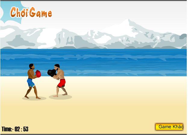 game đấm bốc bãi biển