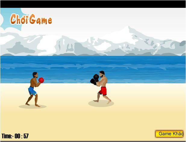 chơi game đấm bốc bãi biển