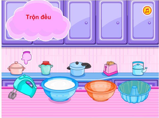 game bánh cup kem sữa