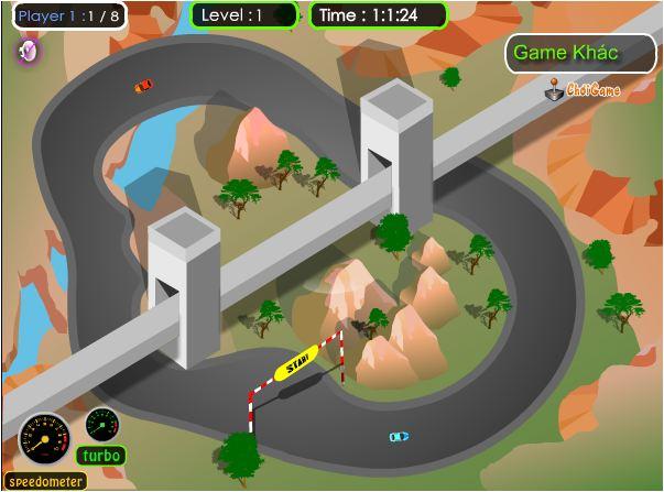 chơi game chặng đua quanh núi
