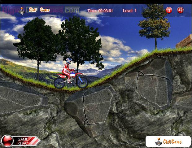 game moto đường rừng