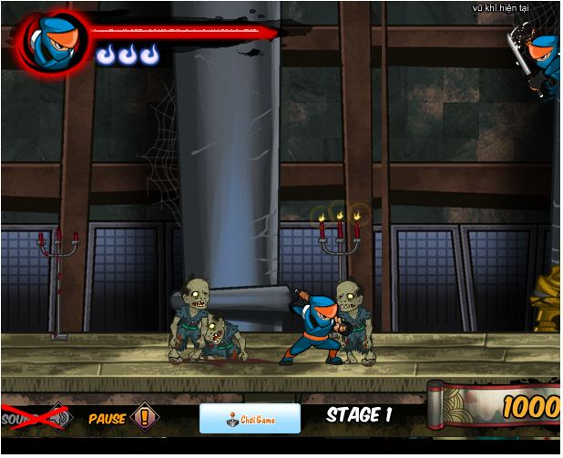 game Ninjda diệt Zombie