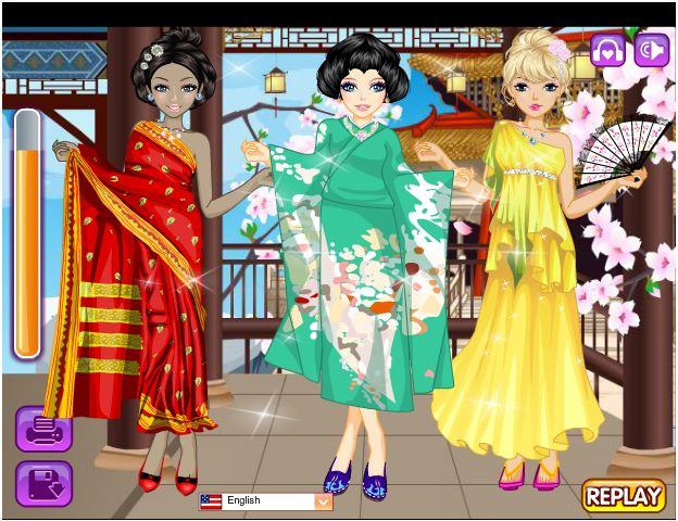 chơi game thời trang châu Á