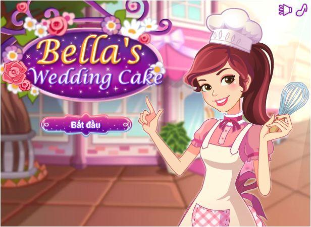 chơi game làm bánh cưới