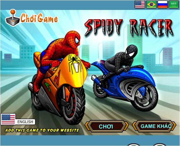 chơi game siêu nhện đua xe