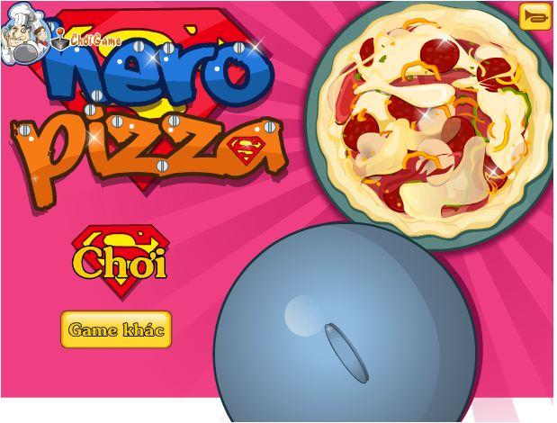 chơi game bánh pizza anh hùng