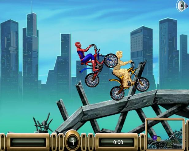 game người nhện và người cát đua xe