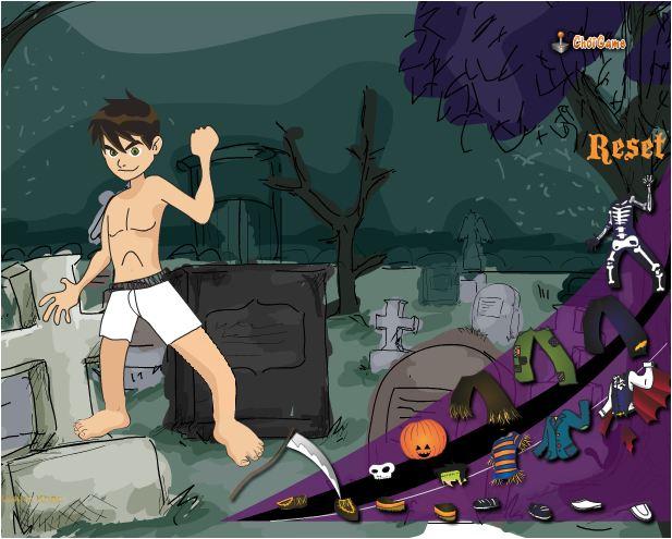 game Ben 10 thời trang hallowen