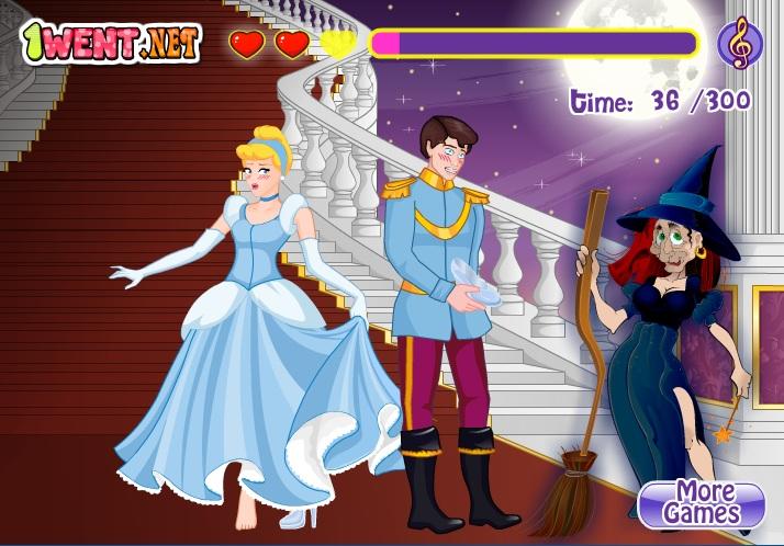 công chúa lọ lem và hoàng tử hôn nhau