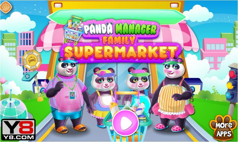 chơi game siêu thị gấu trúc