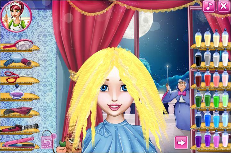 game làm tóc công chúa