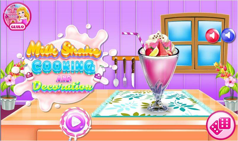 chơi game làm sữa lắc trái cây