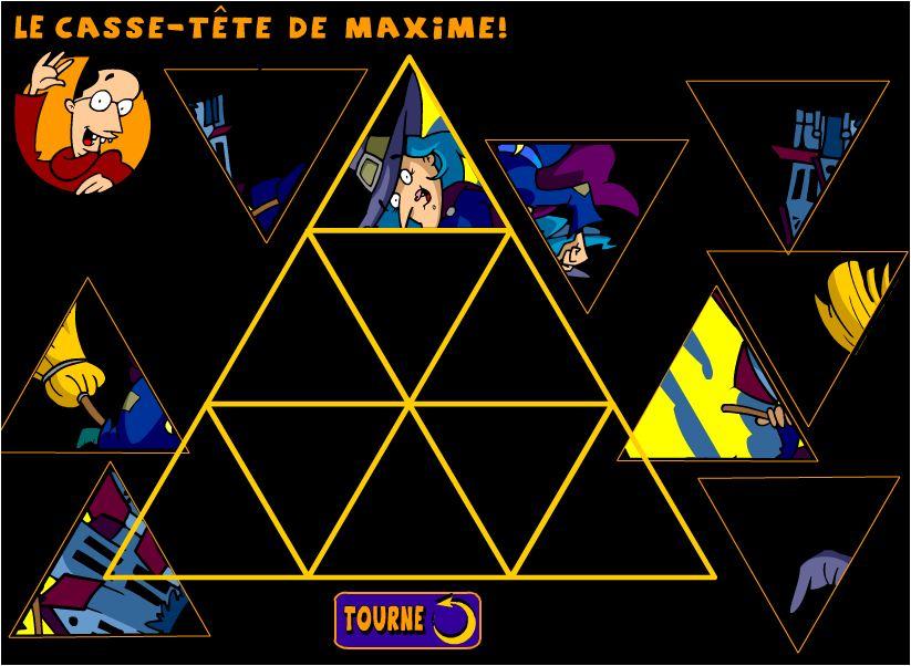 chơi game ráp hình tam giác