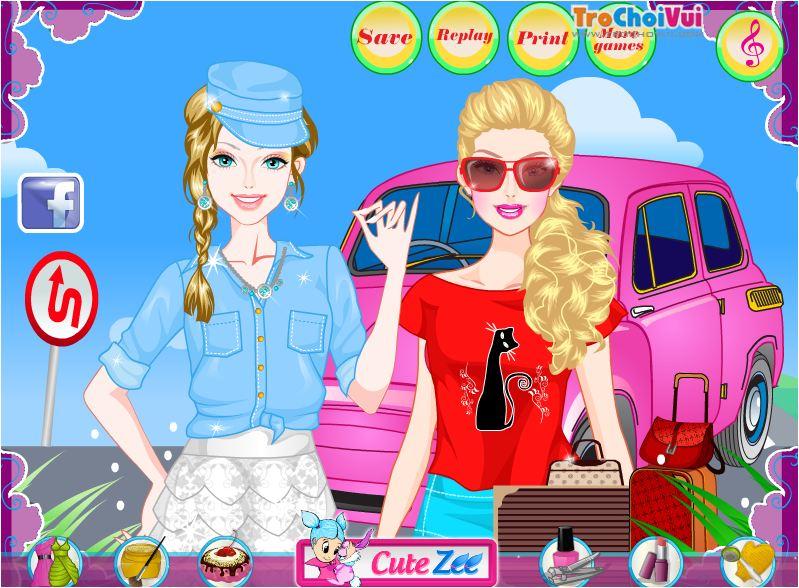 trang điểm cho Barbie đi chơi