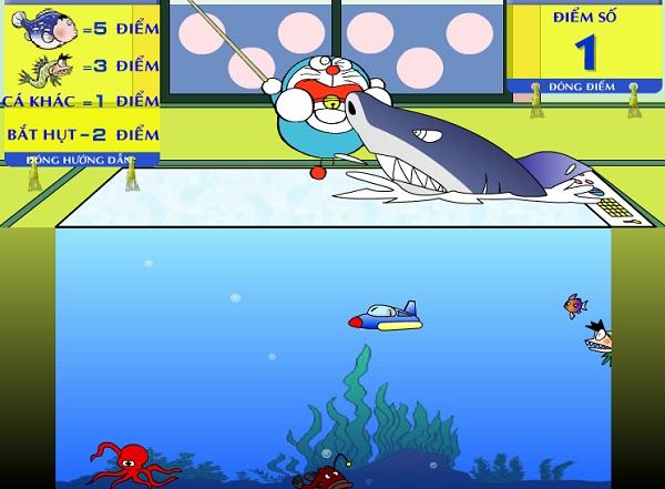 Doremon câu cá